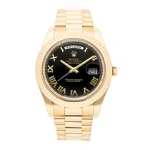 Rolex Day-Date II Yellow gold 41mm Black Roman numerals United States of America, Pennsylvania, Bala Cynwyd