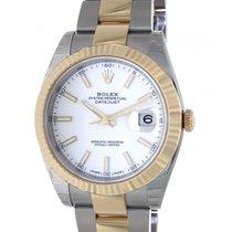 Rolex Datejust II Gold/Steel 41mm White No numerals