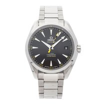 Omega Steel Automatic Black No numerals 41.5mm pre-owned Seamaster Aqua Terra