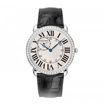 Cartier White gold Manual winding Silver 42mm new Ronde Louis Cartier