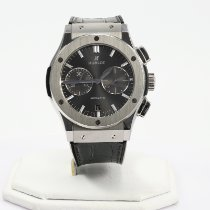 Hublot Classic Fusion Racing Grey pre-owned 45mm Grey Chronograph Date Crocodile skin