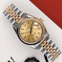 Rolex 16233 Goud/Staal 1991 Datejust 36mm tweedehands Nederland, Maastricht