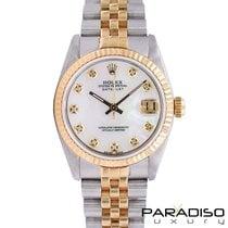 Rolex Lady-Datejust Zlato/Zeljezo 31mm Sedef-biserast