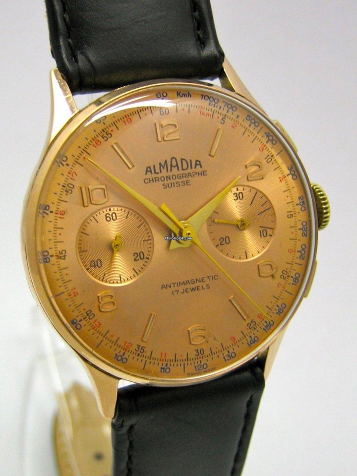 Chronographe Suisse Cie ALMADIA Chronograph Roségold