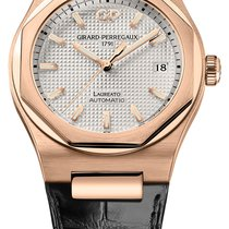 Girard Perregaux Laureato Rose gold 38mm Silver United States of America, New York, Airmont