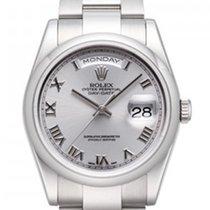 Rolex Day-Date 18K White Gold Unisex Watch