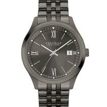 York 45B137 Gunmetal Ion-Plated Men's Watch Sunray Dial