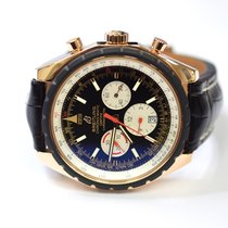 Breitling Chronomatic 49mm 18K Gold Mens Watch on Leather...