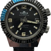 Fortis Steel Manual winding Black No numerals 34mm