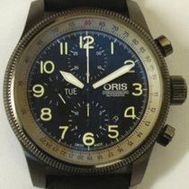 Oris Steel Chronograph Black Arabic numerals pre-owned Big Crown X1
