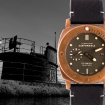Panerai Bronze Automatic Green No numerals 47mm pre-owned Special Editions