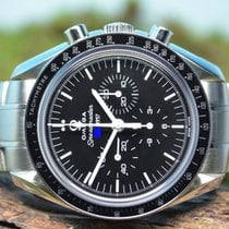Omega 40mm Corda manual novo Speedmaster Professional Moonwatch Preto