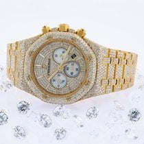 Audemars Piguet Yellow gold Automatic Champagne No numerals 41mm pre-owned Royal Oak Chronograph