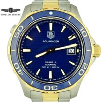 TAG Heuer Aquaracer 500M pre-owned 41mm Blue Date Gold/Steel
