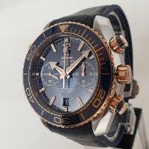 Omega Seamaster Planet Ocean Chronograph Acero y oro 45.5mm Azul