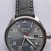 Alpina Startimer Pilot Automatic Steel 44mm Grey