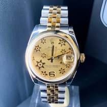 Rolex Lady-Datejust Gold/Steel 31mmmm Champagne Arabic numerals
