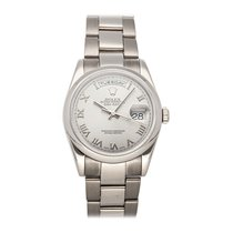 Rolex Day-Date 36 Or blanc 36mm Romain