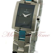 Movado Eliro Ladies, Black Museum Dial - Stainless Steel on...