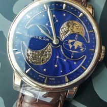 Arnold & Son HM Perpetual Moon Red gold 42mm Blue