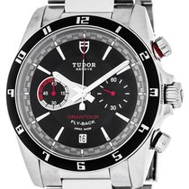 Tudor Automatic Black 42mm new Grantour Chrono Fly-Back