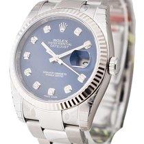 Rolex Unworn 116234-BLUJDO Datejust 36mm in Steel and White...