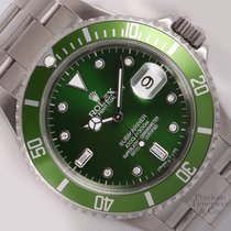 Rolex Green Hulk Submariner 16610 Oyster Stainless Steel 40mm...