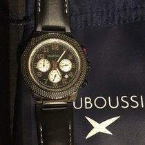 Mauboussin Chrono First Day Watch fond noir sur cuir/ black...