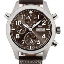 IWC Pilot Double Chronograph 44mm Marrone