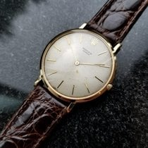 Rolex Vintage 1956 Solid 18k Gold Rare Thin 9568 Cal 650 Mens...