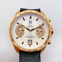 TAG Heuer Rose gold Automatic 42.5mm pre-owned Grand Carrera