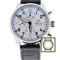 "IWC Pilot's Watch Chronograph Edition ""150 Years"" White Dial..."