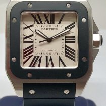 Cartier Santos 100 Steel 38mm Roman numerals