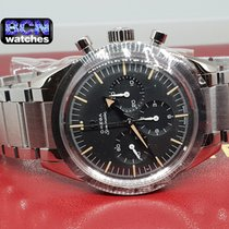 Omega Speedmaster Steel 38.6mm Black No numerals