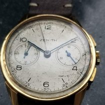 Zenith Yellow gold Manual winding White 37mm pre-owned