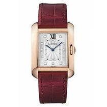 Cartier Tank Anglaise Rose gold 34.7mm Silver