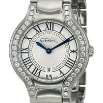 Ebel Steel Quartz Silver Roman numerals 30mm new Beluga