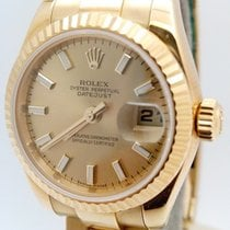 Rolex Lady-Datejust Oro amarillo 26mm Champán Sin cifras España, Huesca