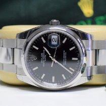 Rolex Oyster Perpetual Date Stahl 34mm Schwarz Keine Ziffern Deutschland, Hamburg