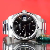 Rolex Oyster Perpetual Date Stål 34mm Svart Inga siffror