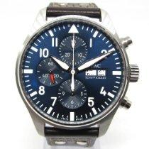 IWC Pilot Chronograph Acero 43mm Azul Arábigos España, Marbella