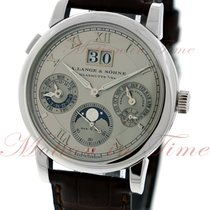 A. Lange & Söhne Langematik Perpetual Platinum 38.5mm Silver Roman numerals United States of America, New York, New York