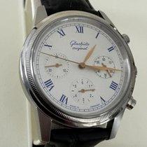 GUB Glashütte Chronograph Steel White Roman Dial 40 mm