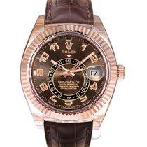 Rolex Sky-Dweller Or rose 42.00mm Brun