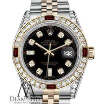 Rolex Lady-Datejust Arany/Acél 26mm Fekete Számjegyek nélkül
