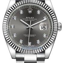 Rolex Datejust Acier 41mm Gris