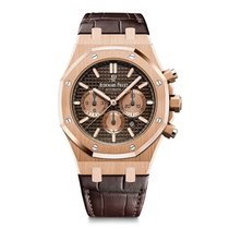 Audemars Piguet Royal Oak Chronograph Or rose 41mm Brun
