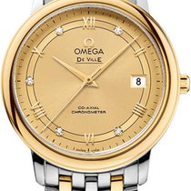 Omega De Ville Prestige Or/Acier 36.8mm Champagne Romain
