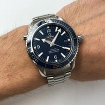 Omega Titanium Automatic Blue Arabic numerals 42mm new Seamaster Planet Ocean