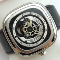 Sevenfriday P1B-1 Stal 47mm Srebrny Arabskie